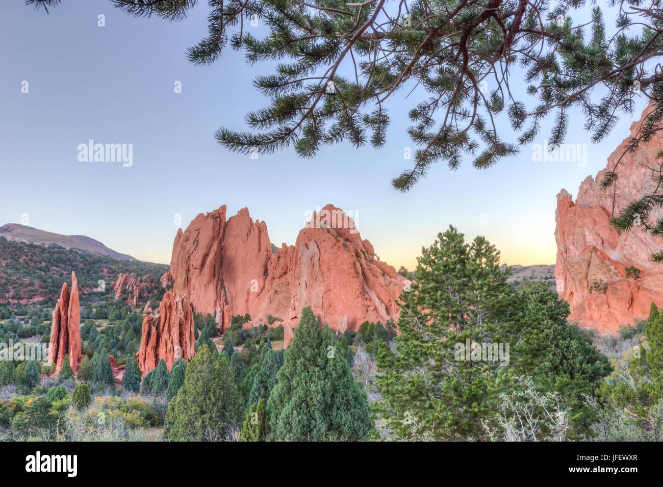 Garden of the Gods - Colorado Springs, CO - Stock Image