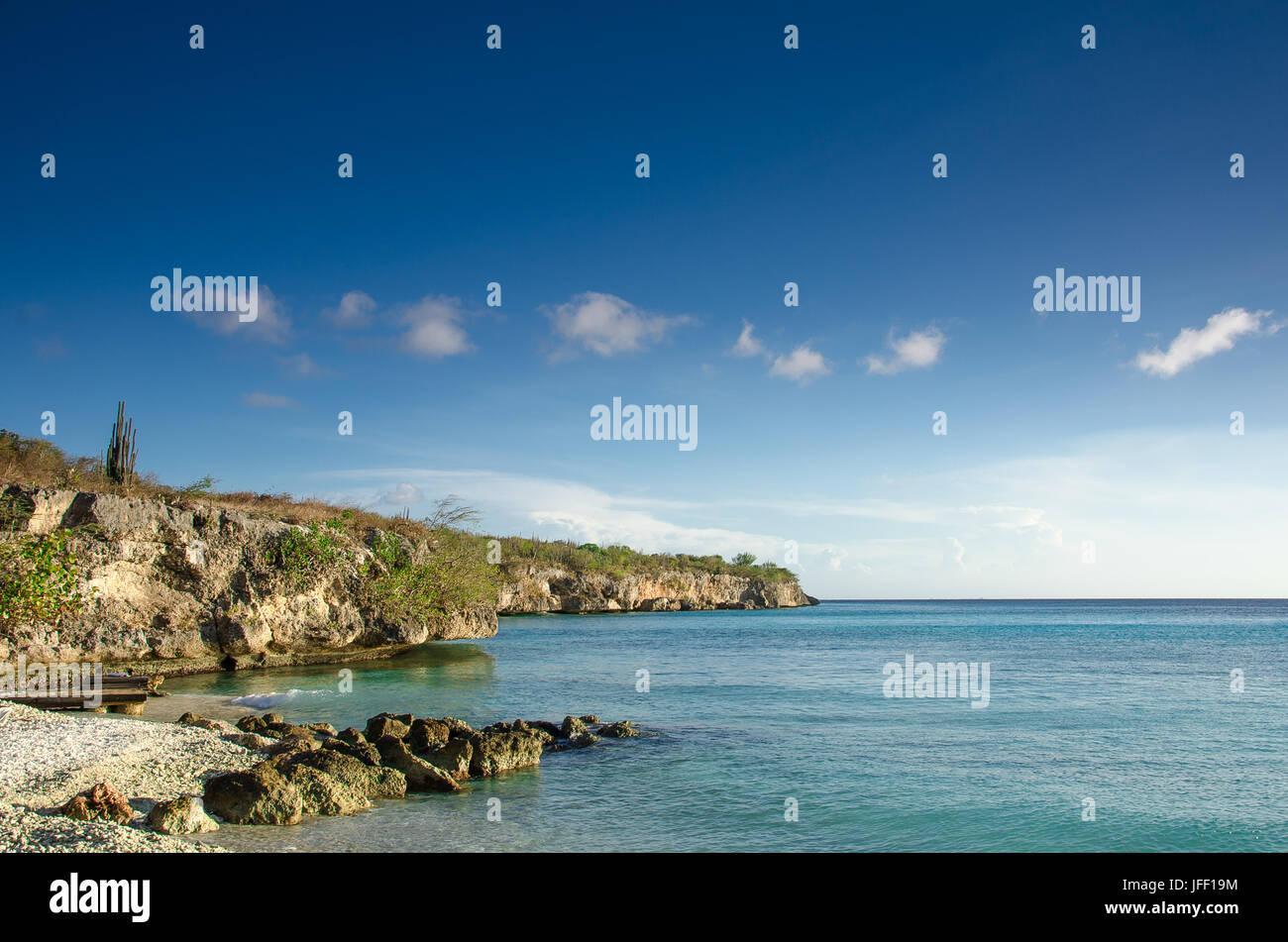 Beach on a Caribbean Island - Stock Image
