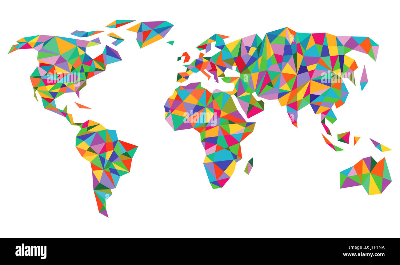 Colorful world map isolated on white stock photo 147233446 alamy colorful world map isolated on white gumiabroncs Gallery