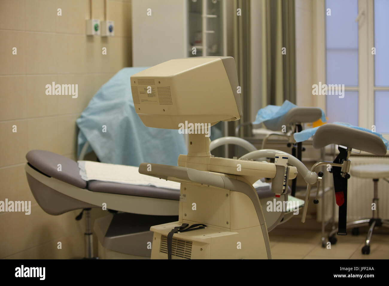interior and equipment gynecological office - Stock Image