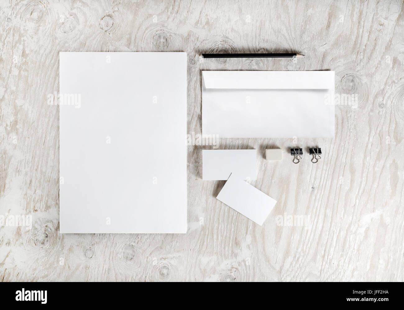 Blank stationery mockup - Stock Image