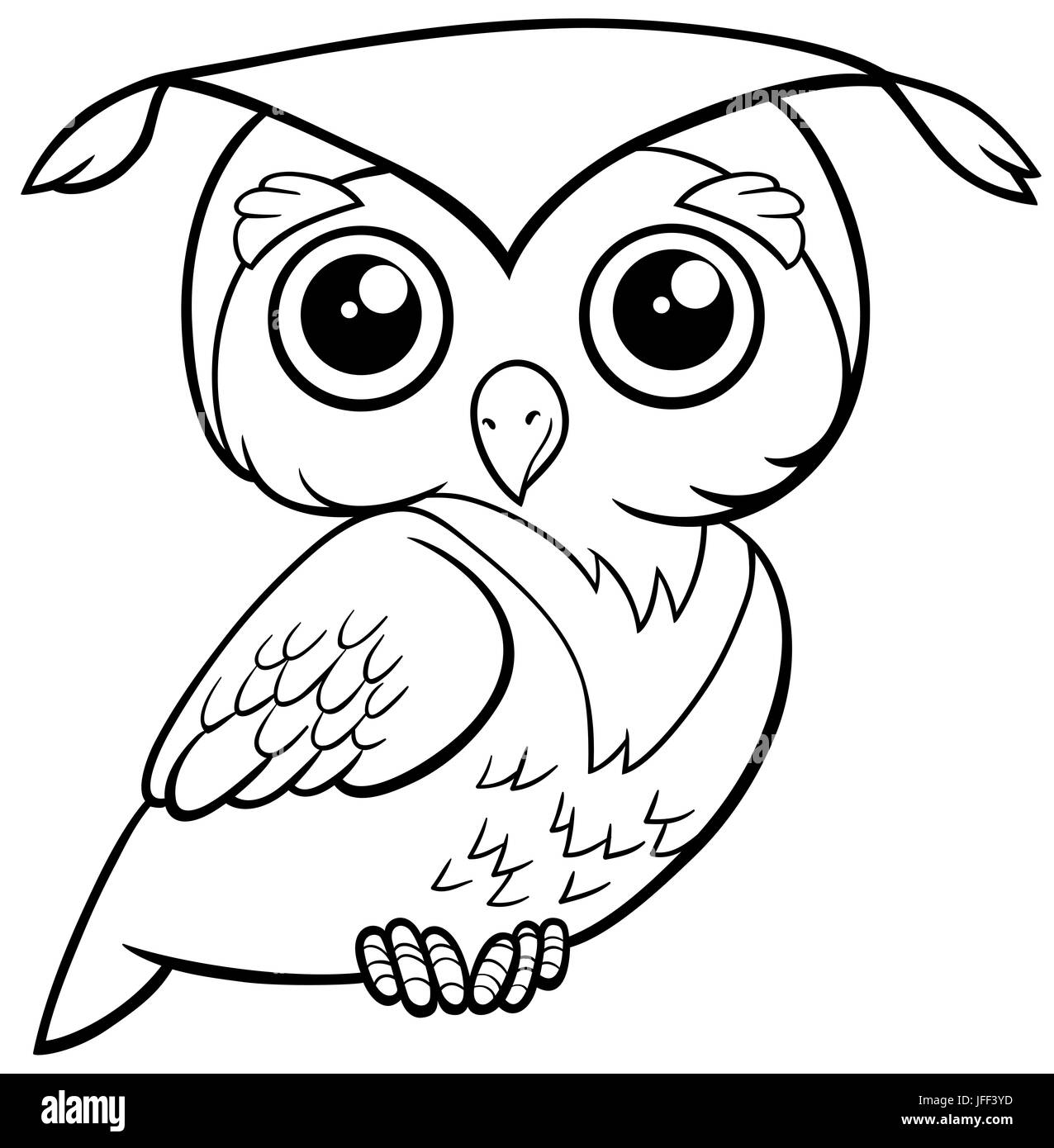 - Cute Owl Coloring Page Stock Photo - Alamy