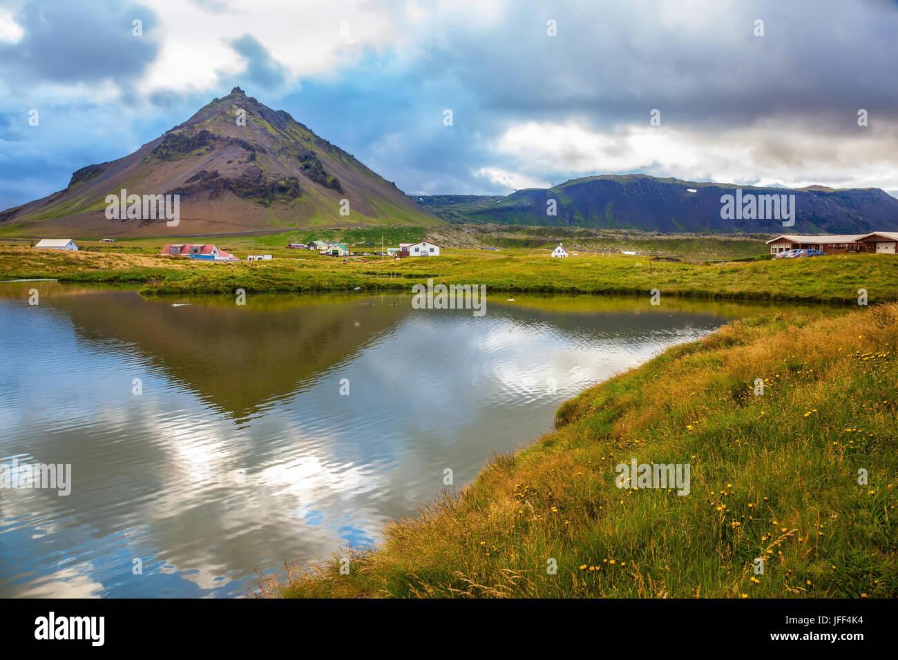 Evening light in the Polar region - Stock Image