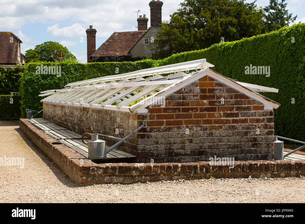 One of many brick built cold frames in the famous walled garden in ...