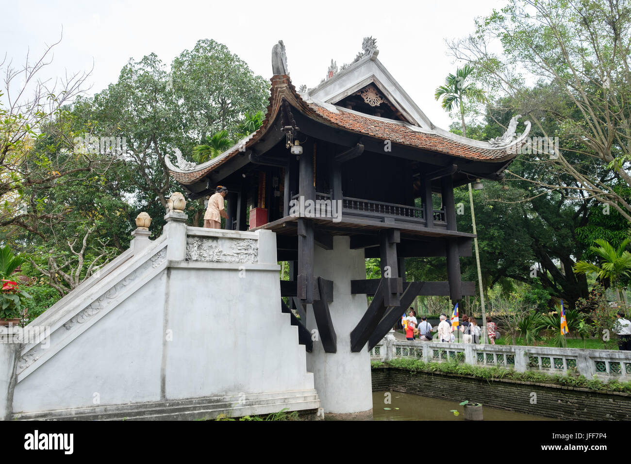 One Pillar Pagoda in Hanoi, Vietnam, Asia Stock Photo