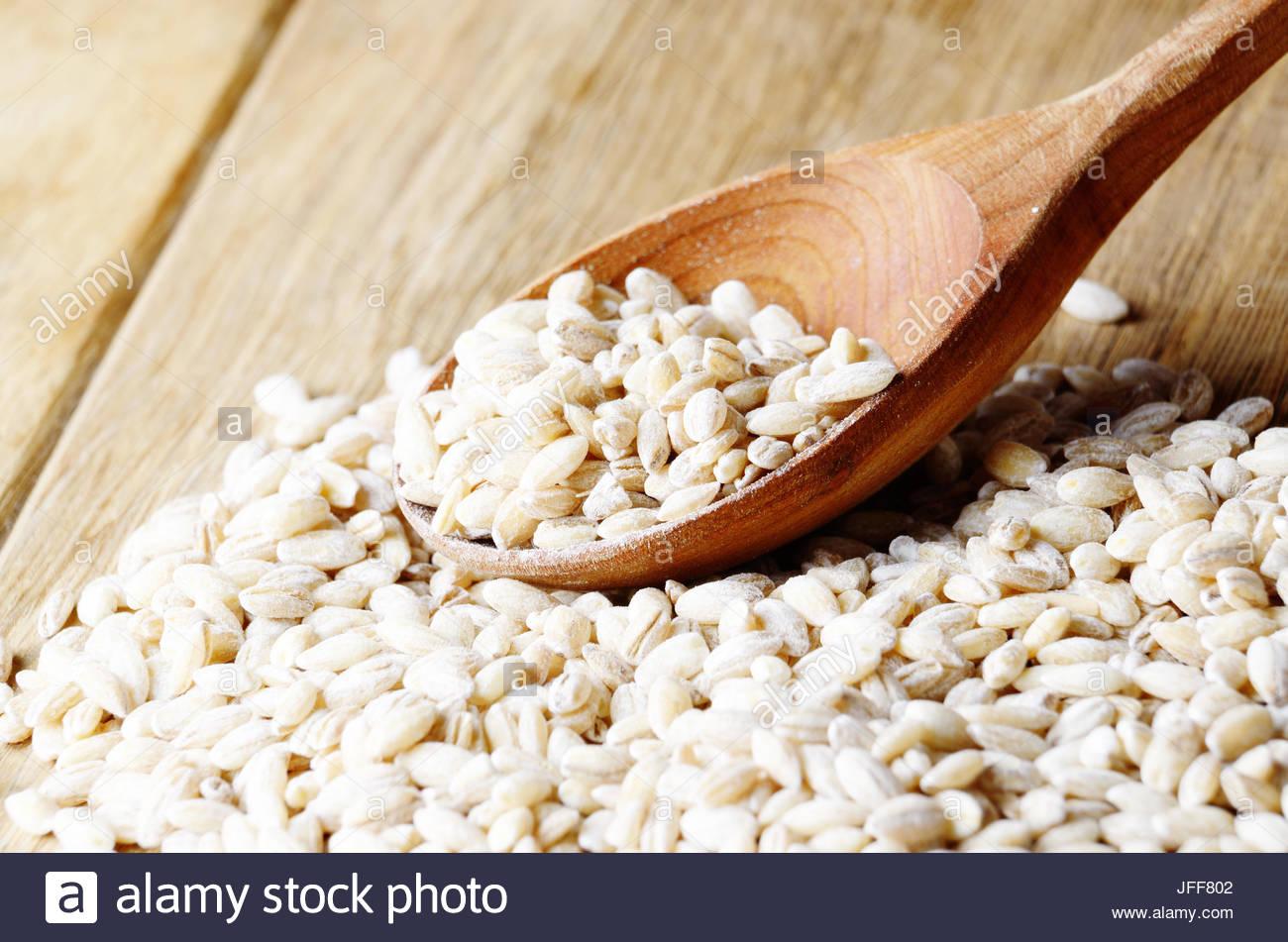 Barley grains - Stock Image