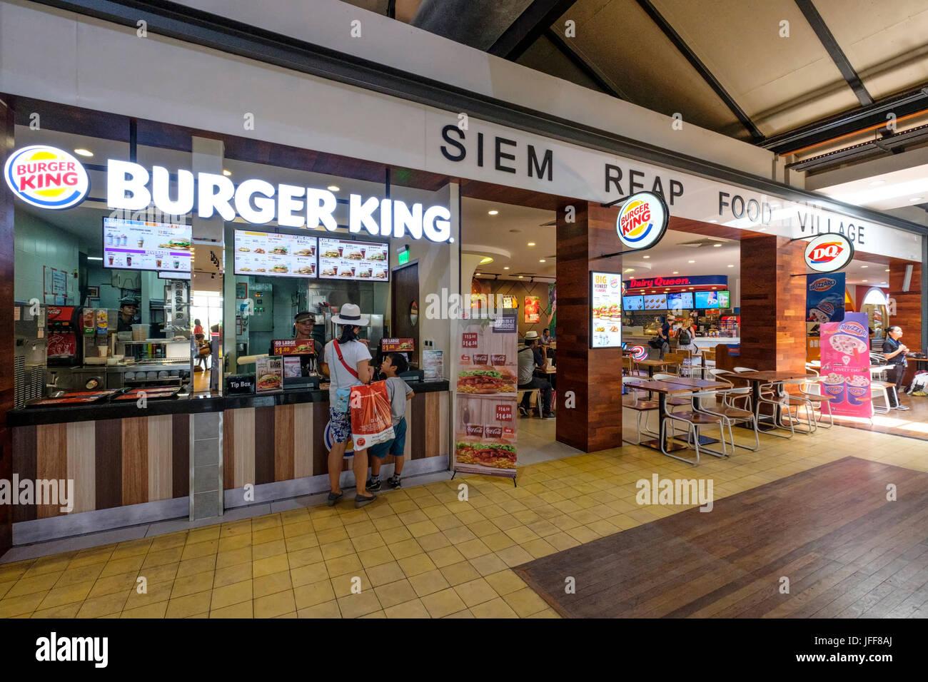 Burger King restaurant at the Siem Reap International Airport, Cambodia, Asia - Stock Image