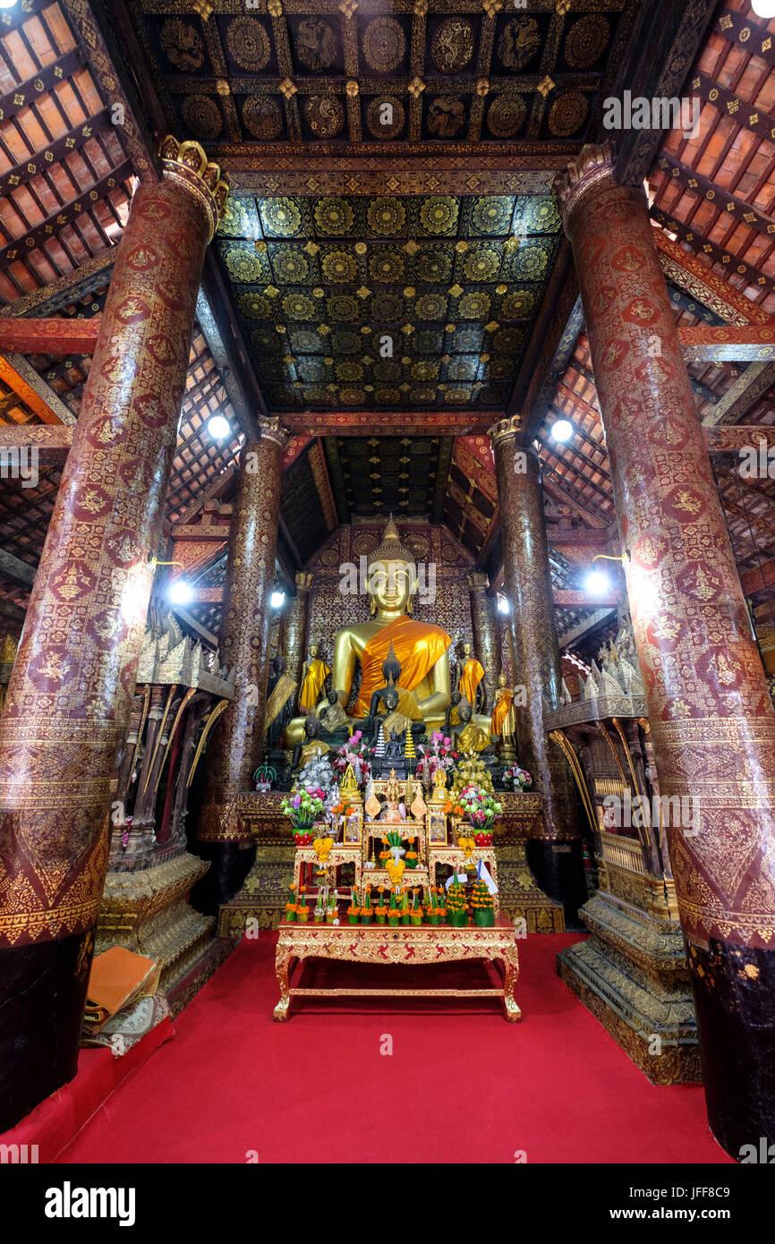 Wat Xieng Thong buddhist temple in Luang Prabang, Laos, Asia Stock Photo