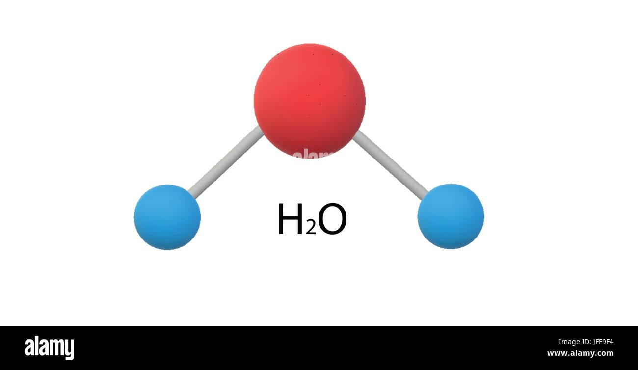 H2O molecule model Stock Vector Art & Illustration, Vector ...