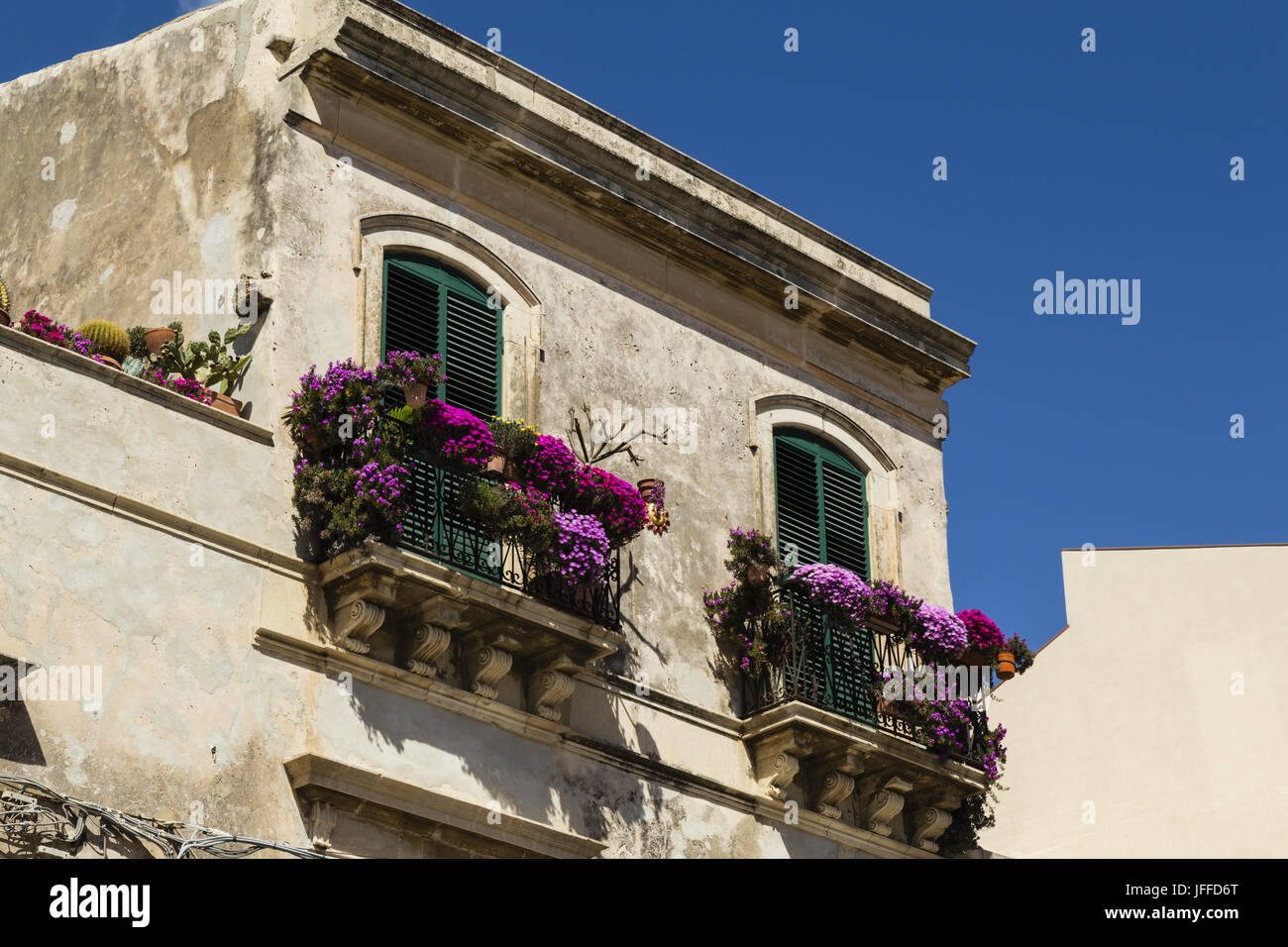 house in Syracuse, Sicily - Stock Image