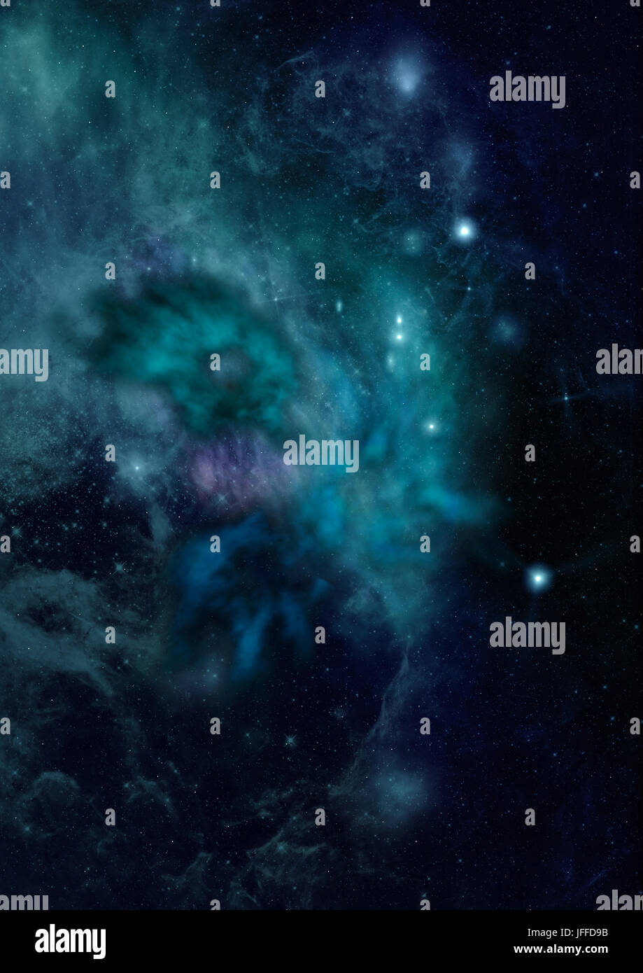 Small part of an infinite star field - Stock Image
