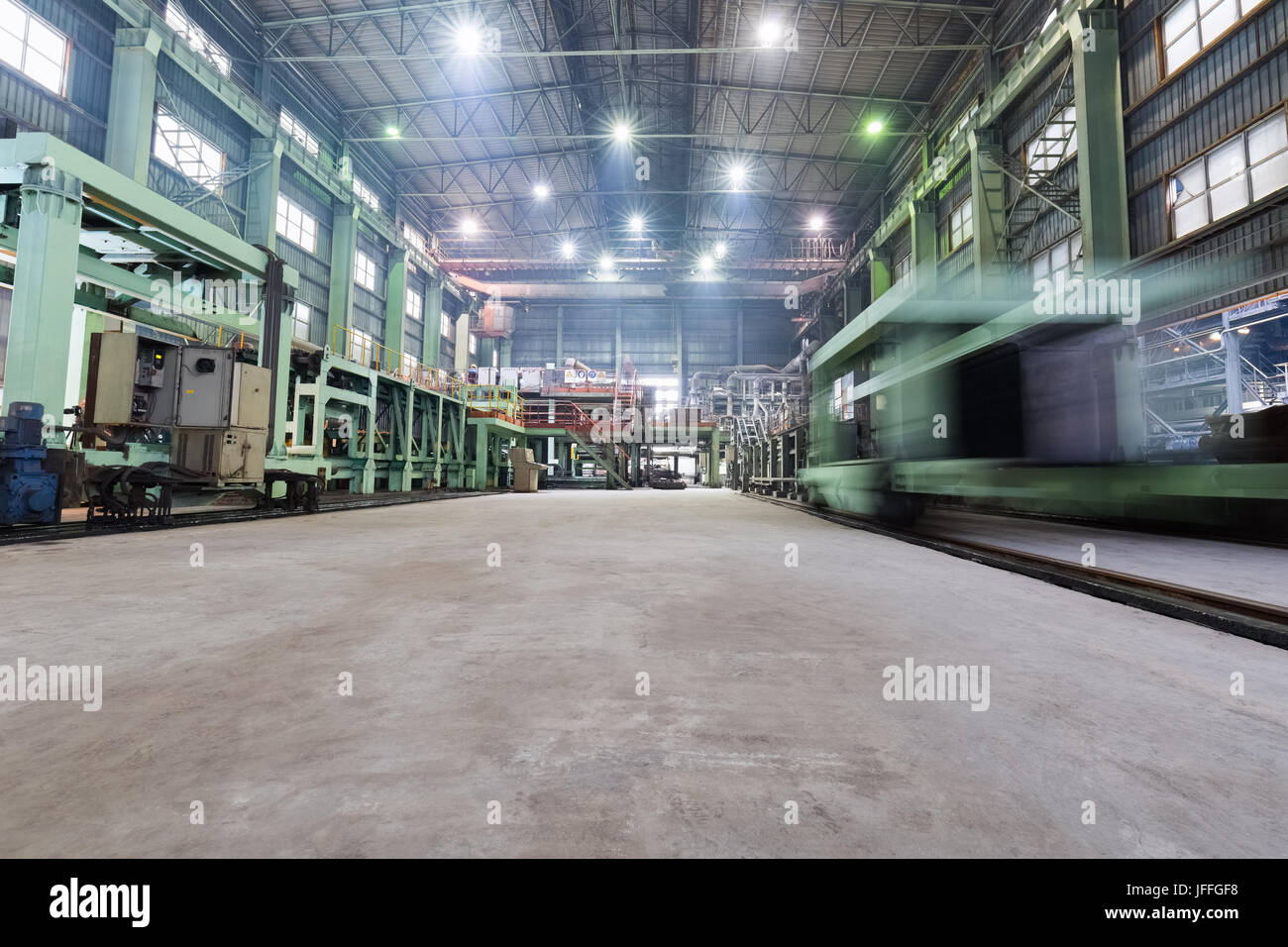 industrial production workshop closeup - Stock Image