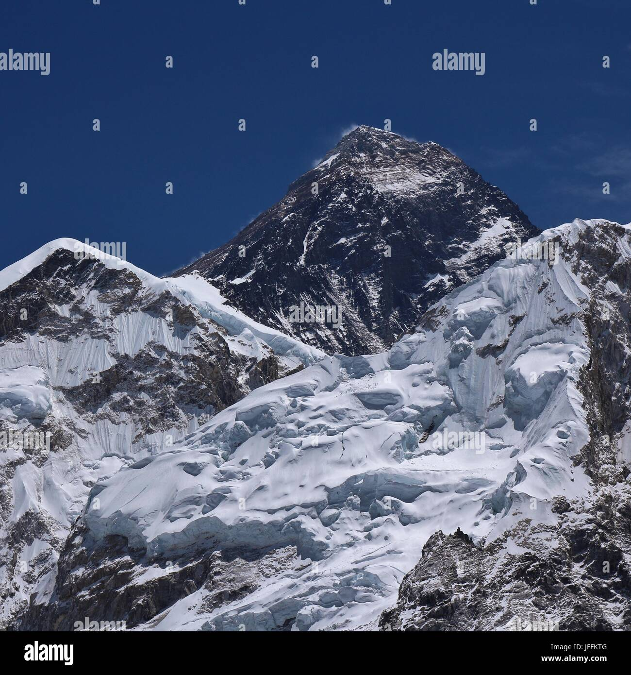 Mount Everest in spring - Stock Image
