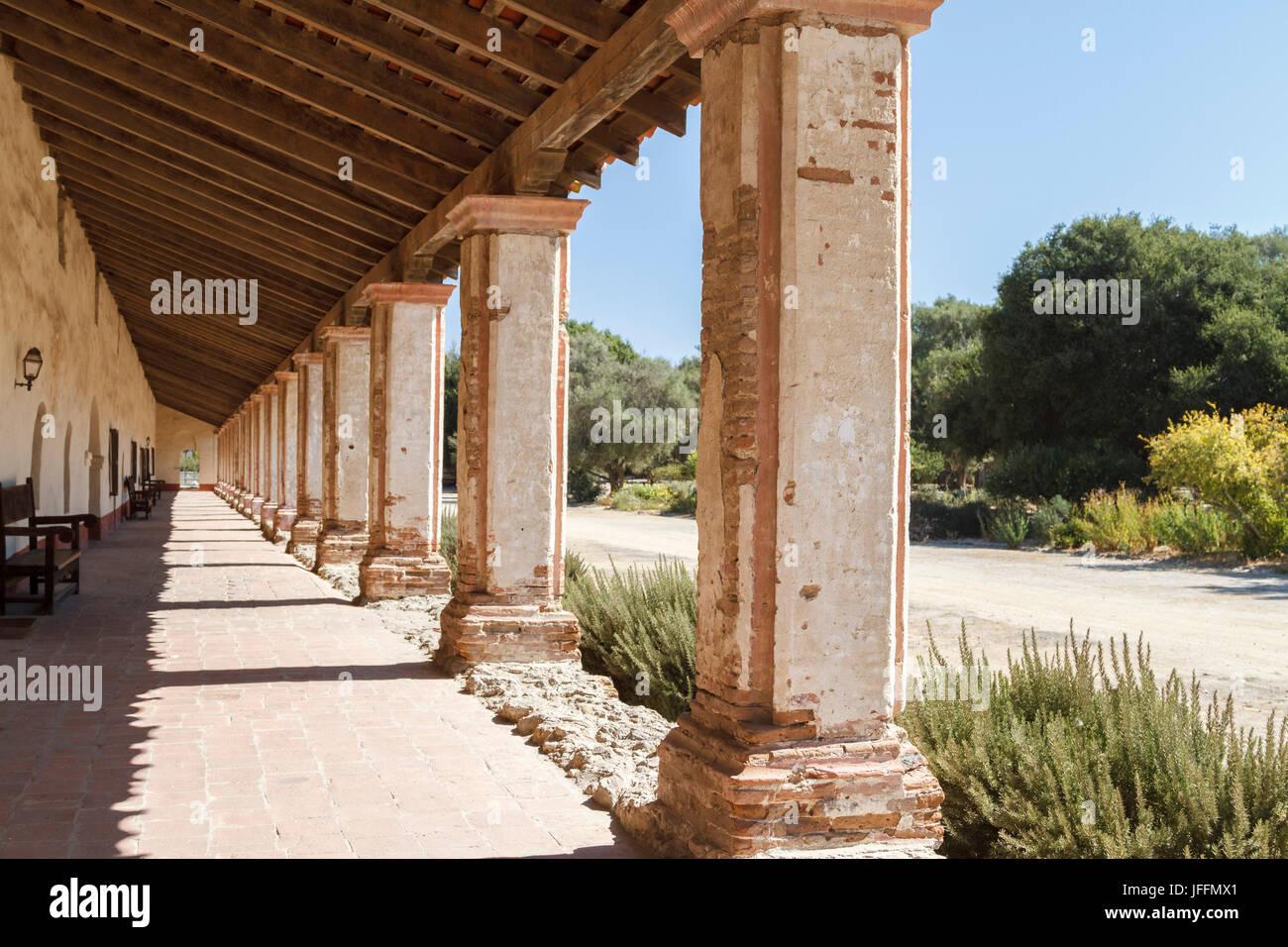 La Purisima Mission State Historic Park, Lompoc, California - Stock Image