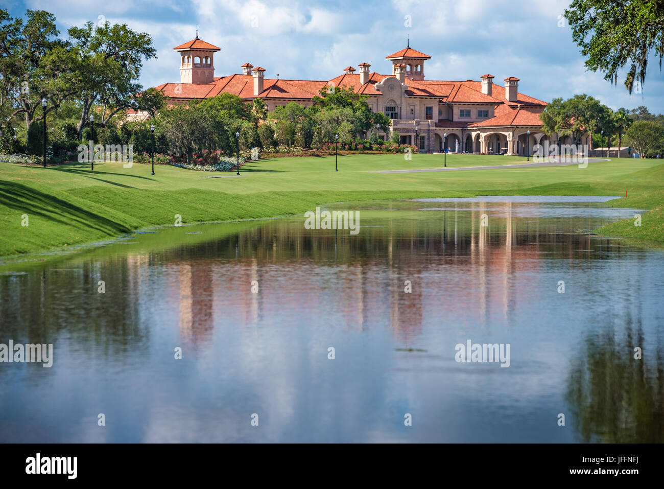 TPC Sawgrass Clubhouse in Ponte Vedra Beach, Florida. (USA) - Stock Image