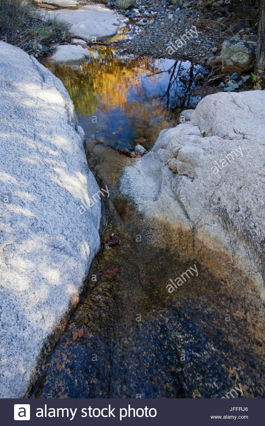 Stream in the Cochise Stronghold in the Dragoon Mountains. - Stock Image