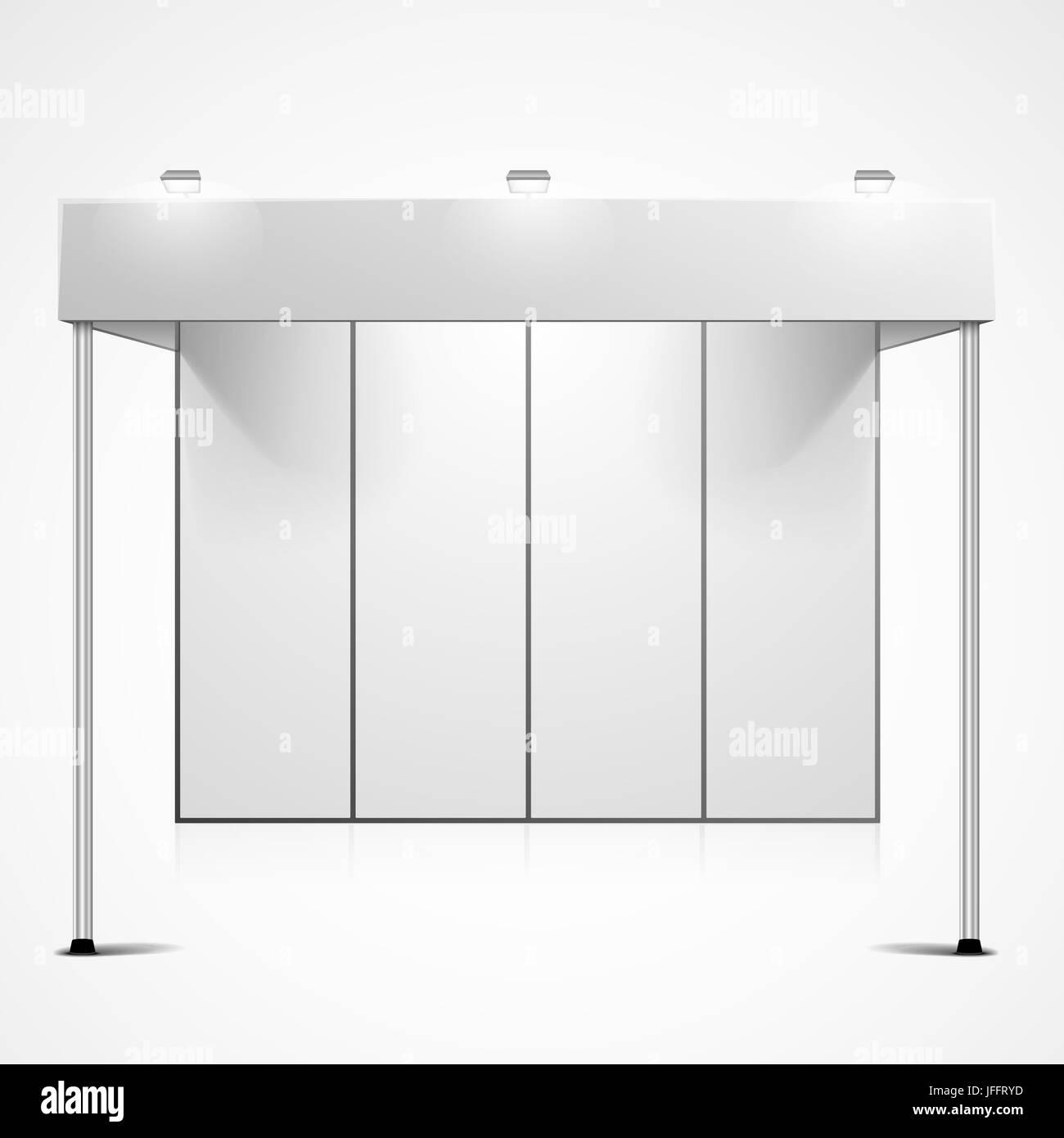 Exhibition Booth Blank : Vector white blank indoor trade stock vector colourbox