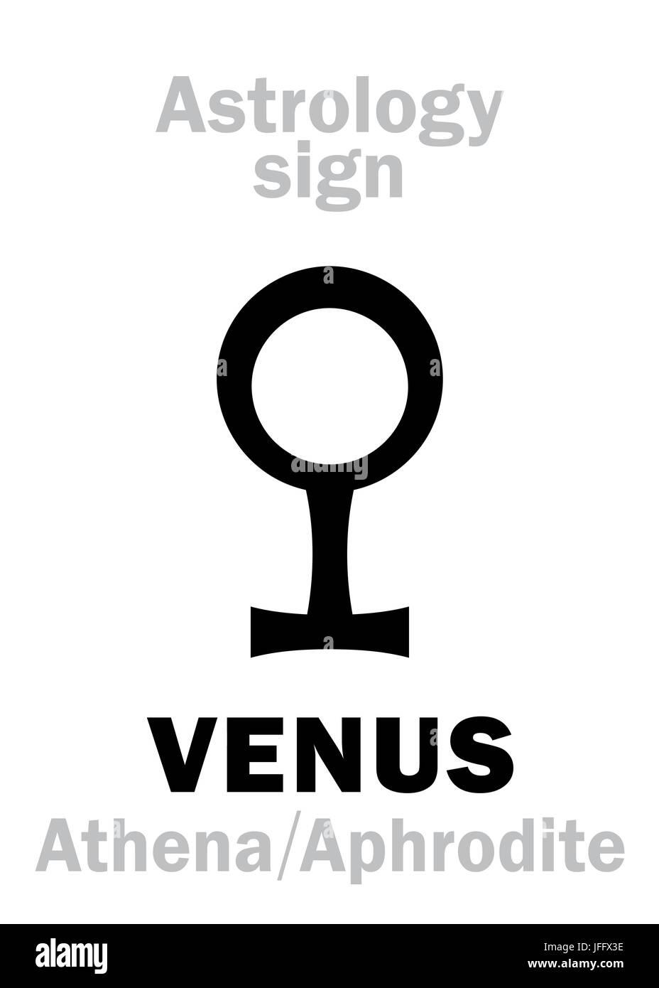 Astrology: planet VENUS - Stock Image