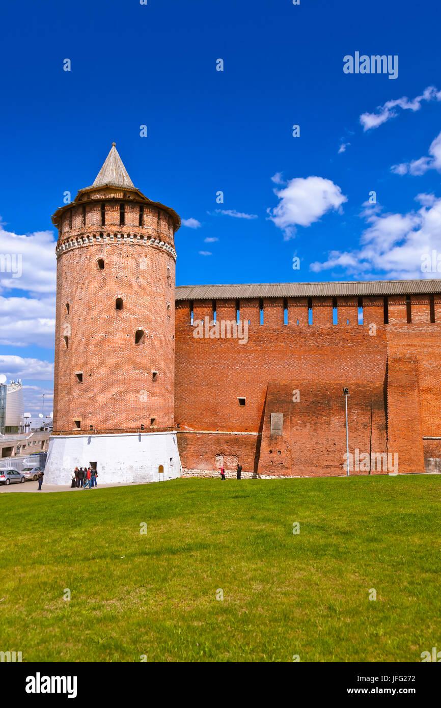 Kolomna Kremlin in Moscow region - Russia Stock Photo