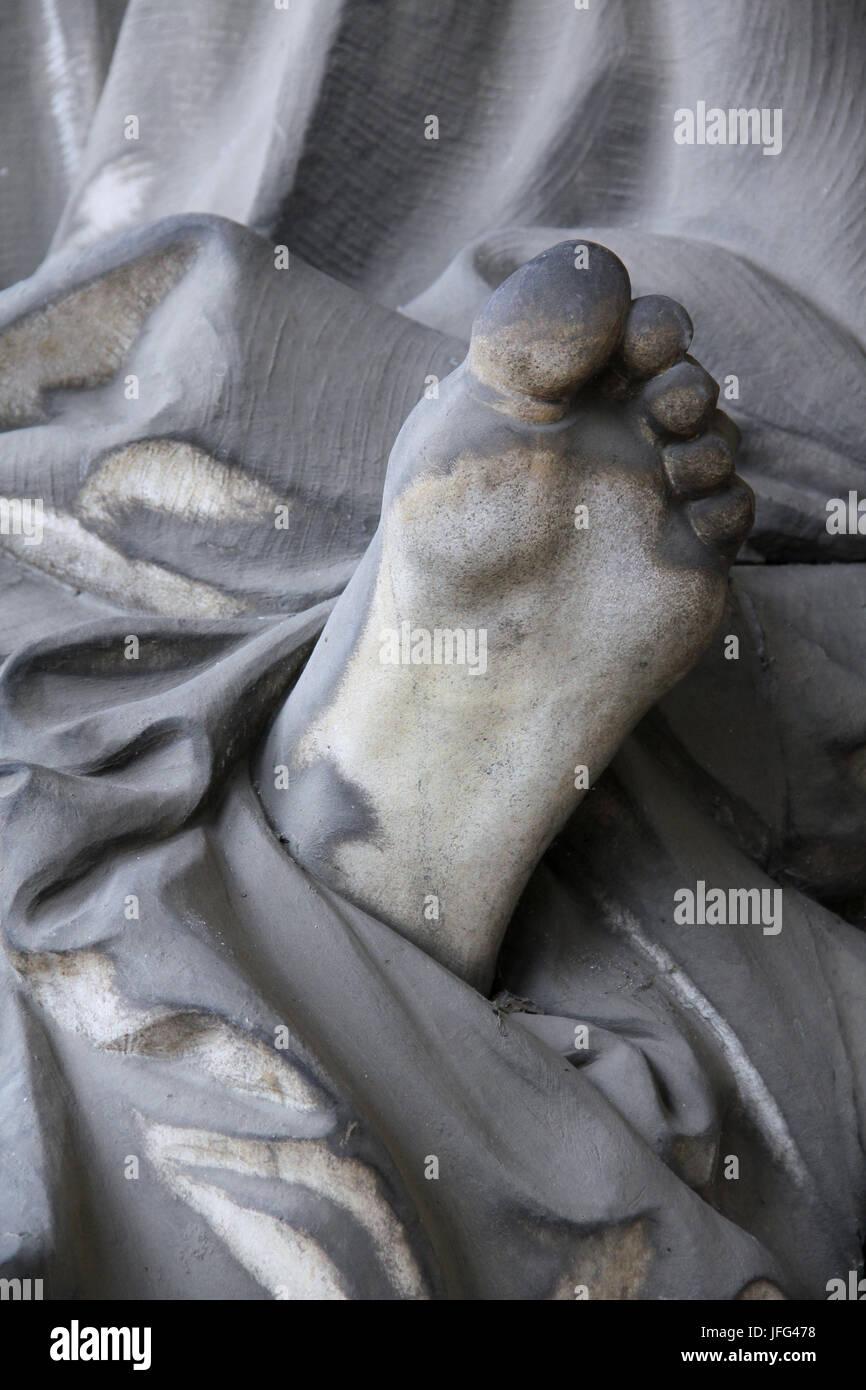 shoeless - Stock Image
