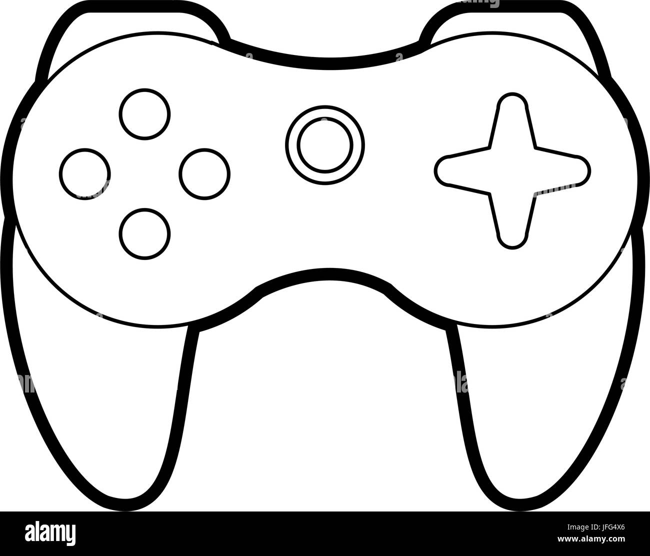 Video games accessories - Stock Image