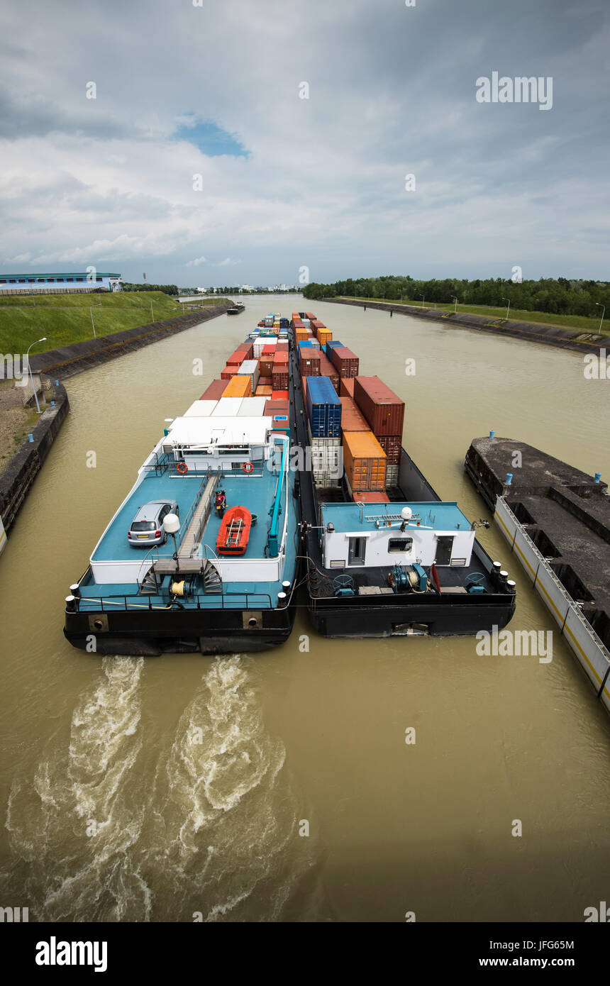 inland waterway transportation - Stock Image