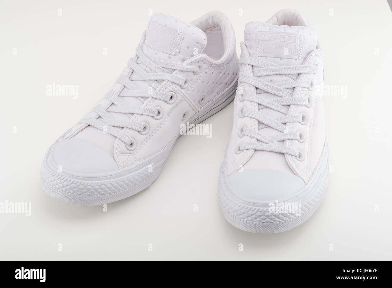 Pair Shoes White Stock Of All Star Chuck Taylor Converse Photo CBoxde