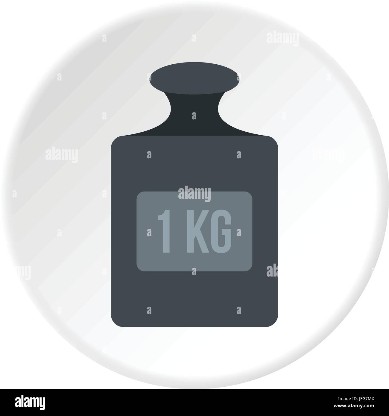 Weight 1 kg icon circle - Stock Image