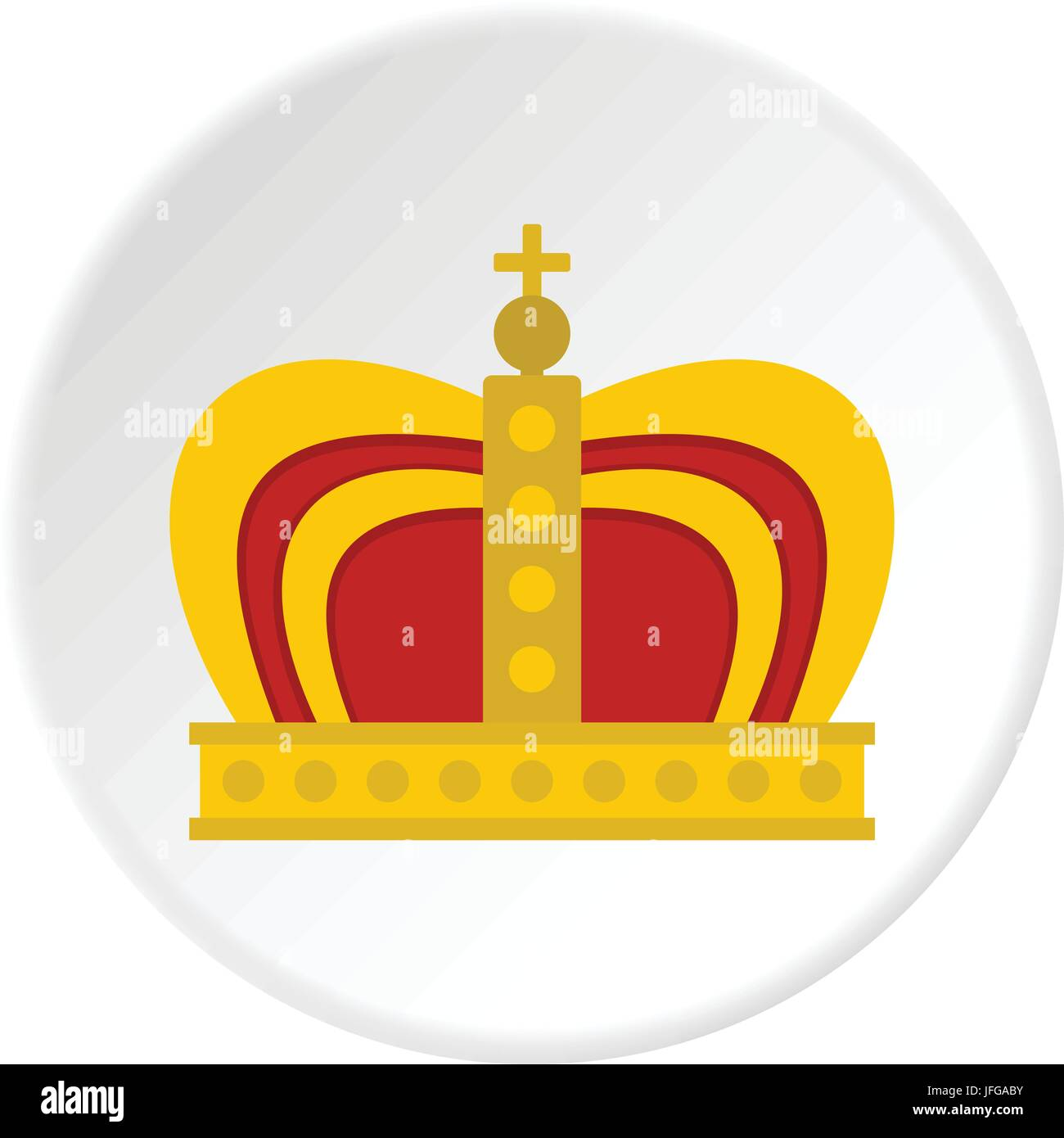 Monarchy crown icon circle - Stock Vector