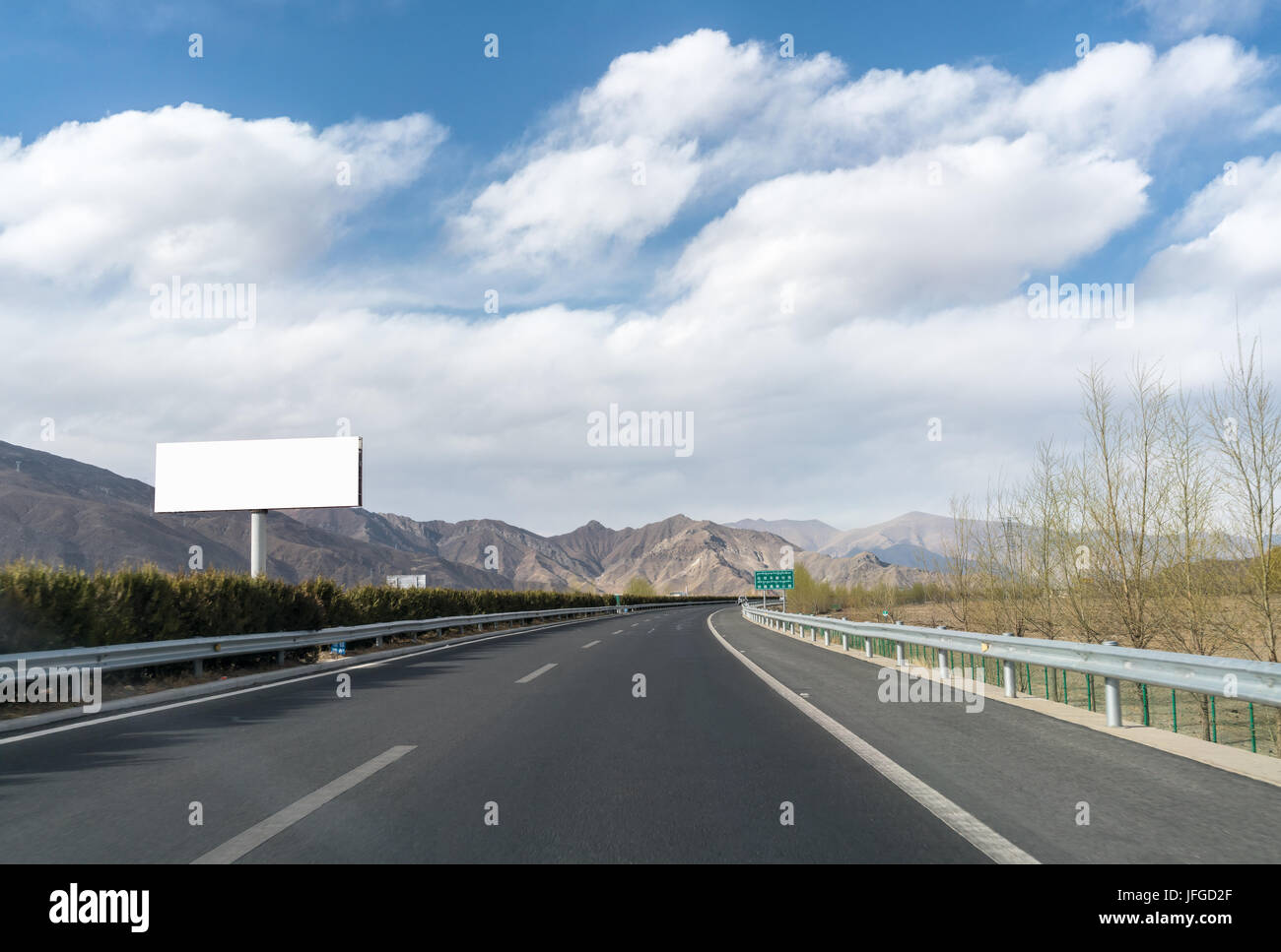 large billboard and expressway in tibet - Stock Image