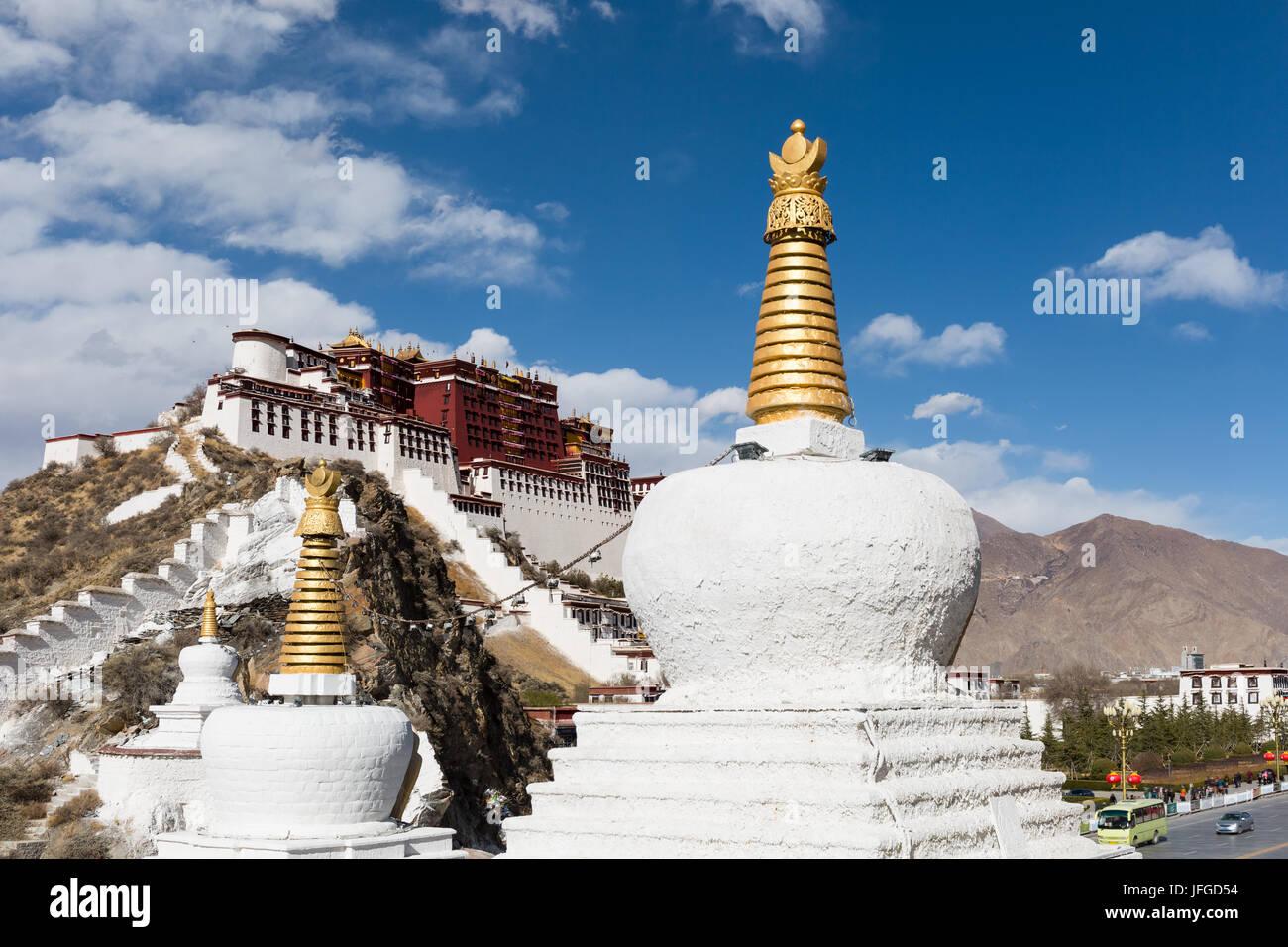 potala palace in lhasa - Stock Image
