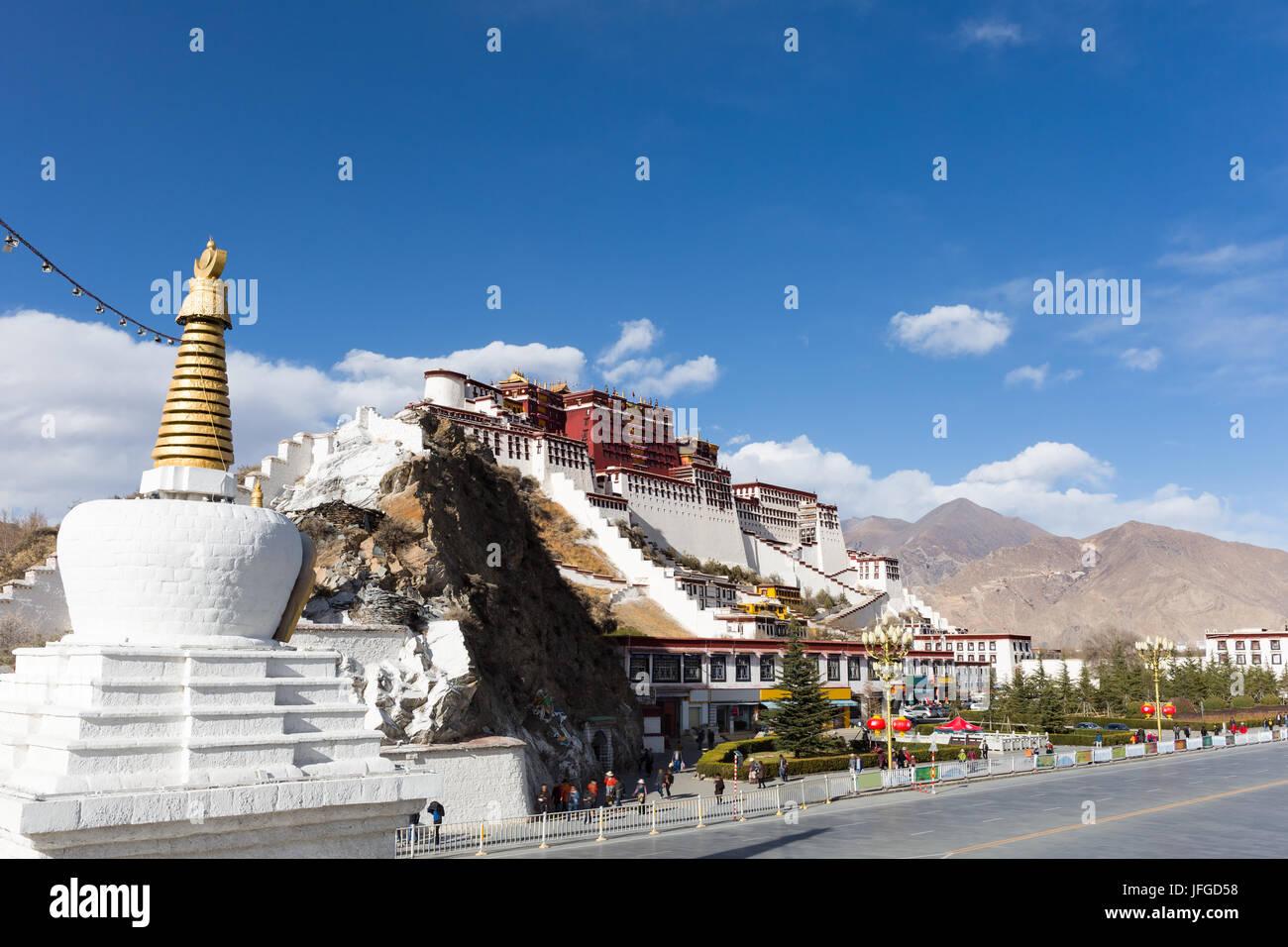lhasa potala palace - Stock Image