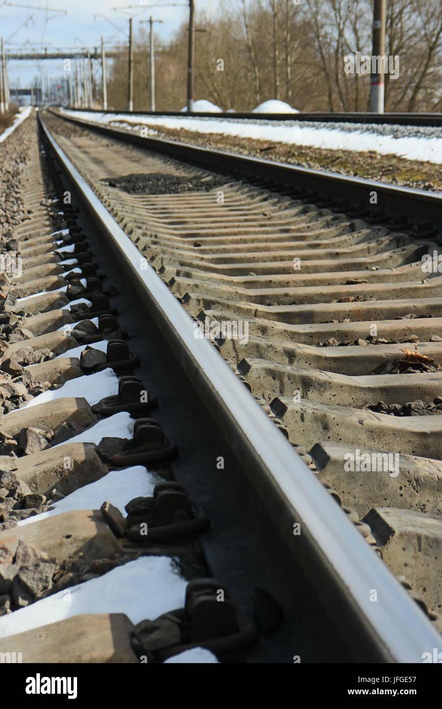 rails of railway - Stock Image