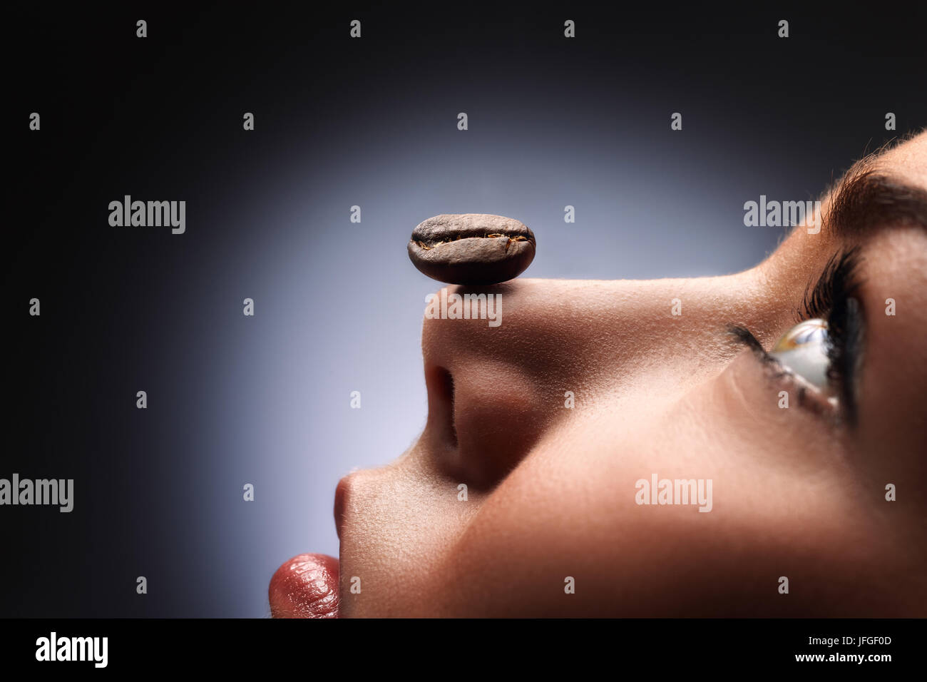 Smell and relax. - Stock Image