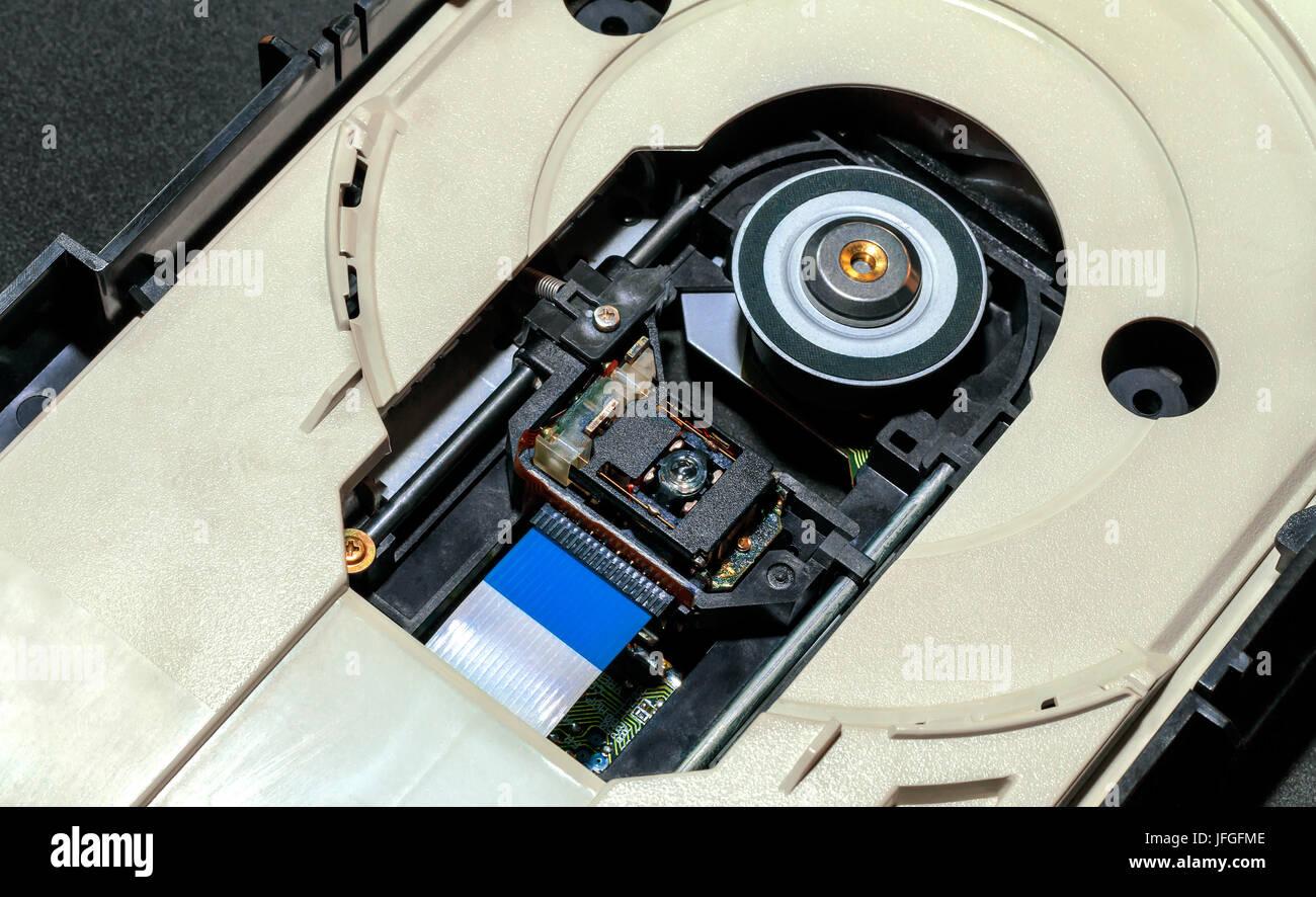 Opened CD-DVD ROM - Stock Image