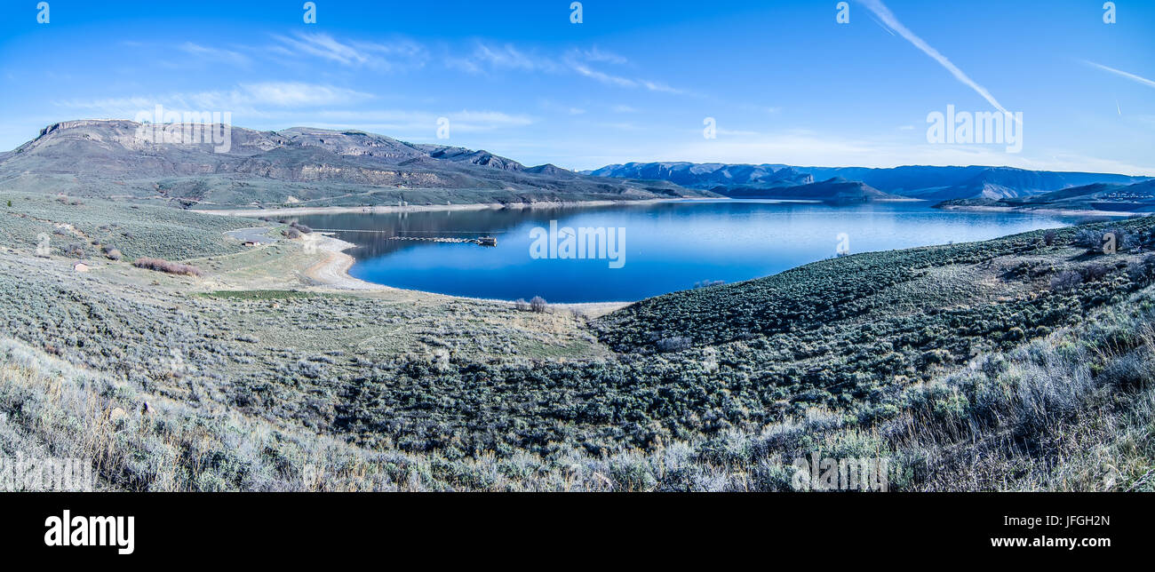 blue mesa reservoir in gunnison national forest co - Stock Image