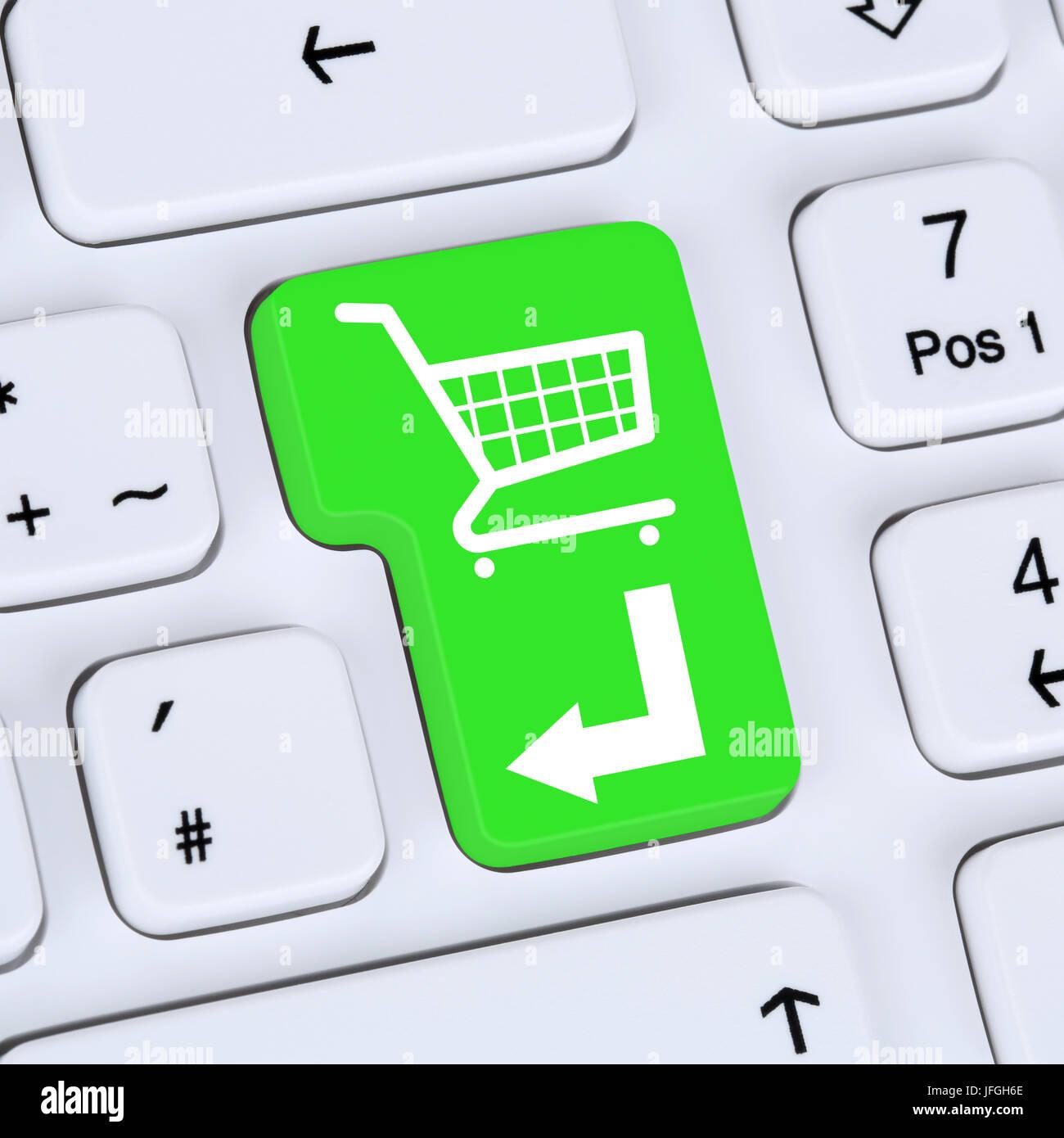 Internet Konzept online Shopping E-Commerce bestellen und einkaufen Stock Photo