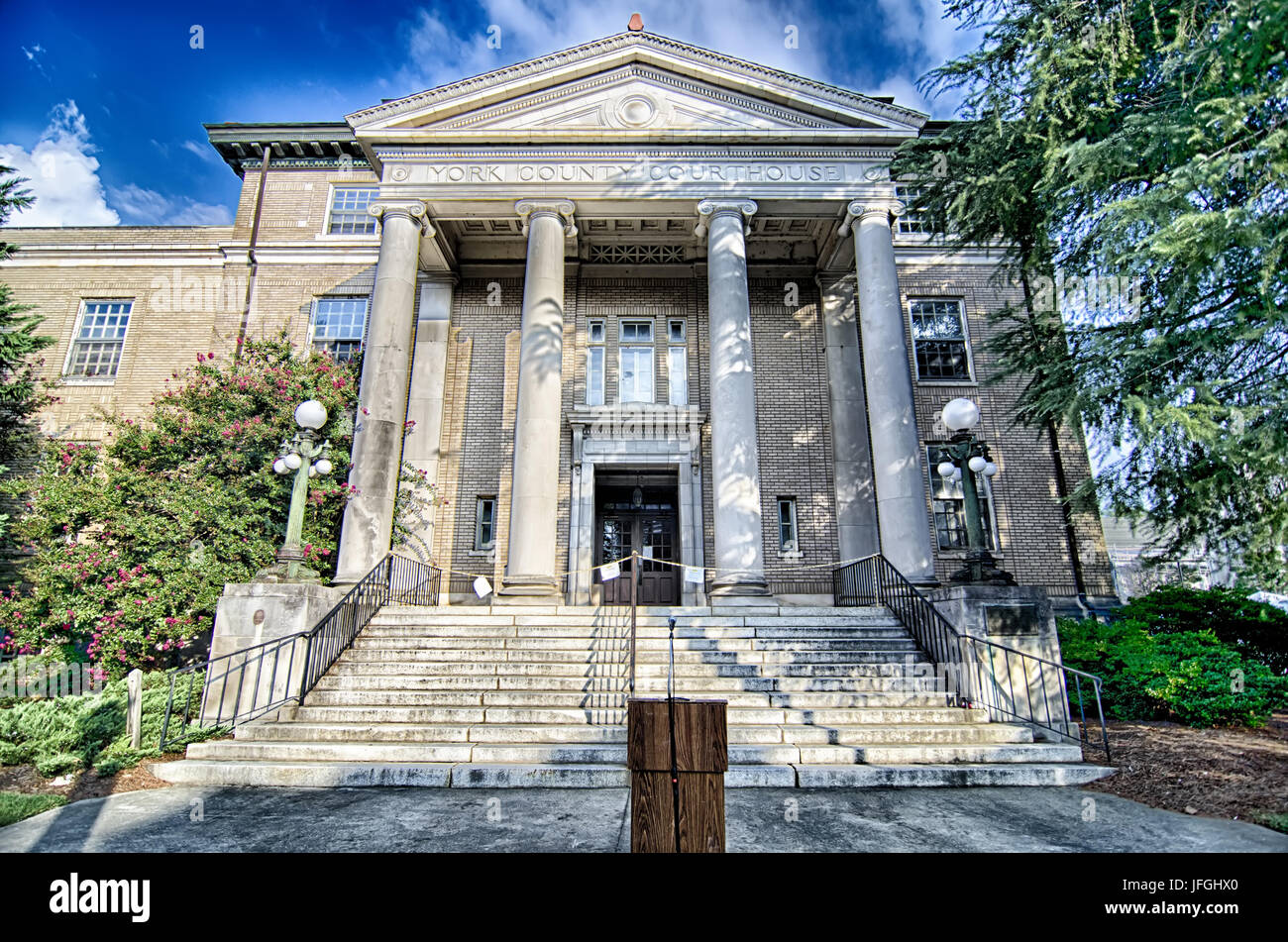 August 2015 old city of york south carolina couthouse - Stock Image