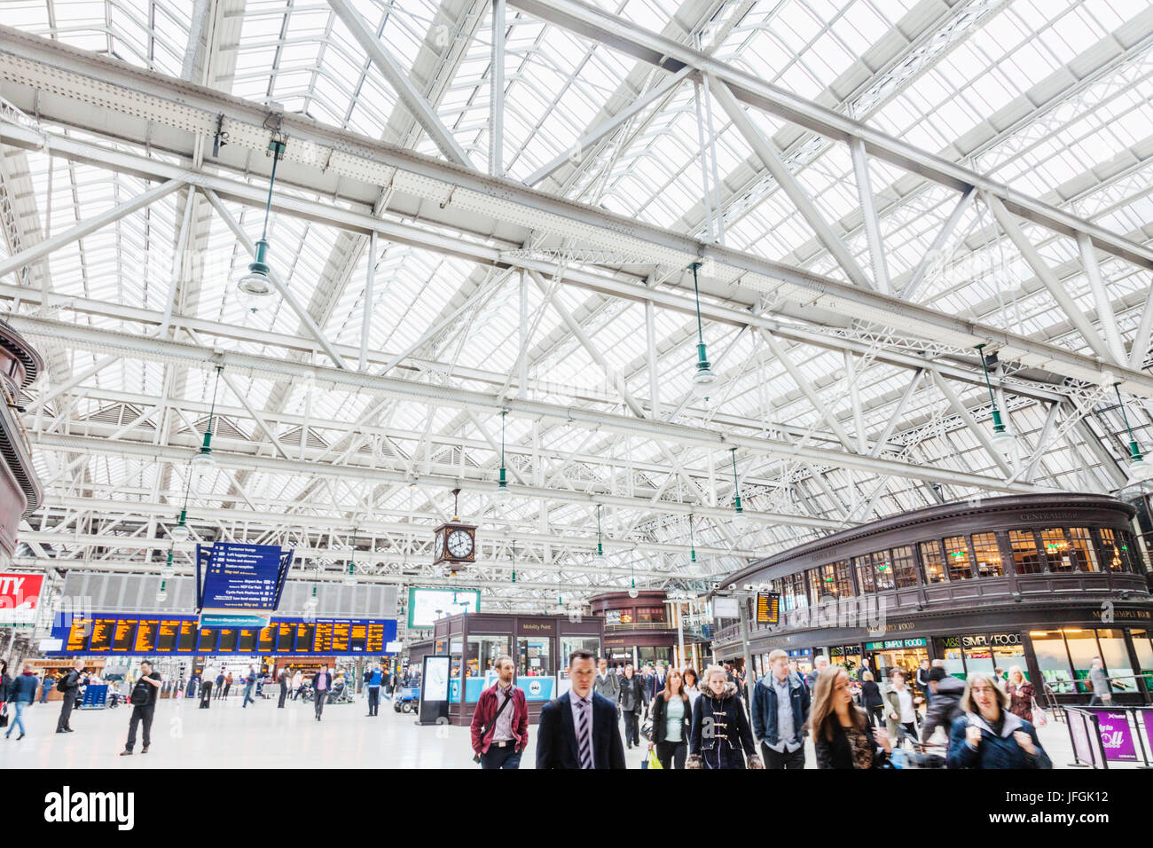 Scotland, Glasgow, Glasgow Central Railway Station - Stock Image