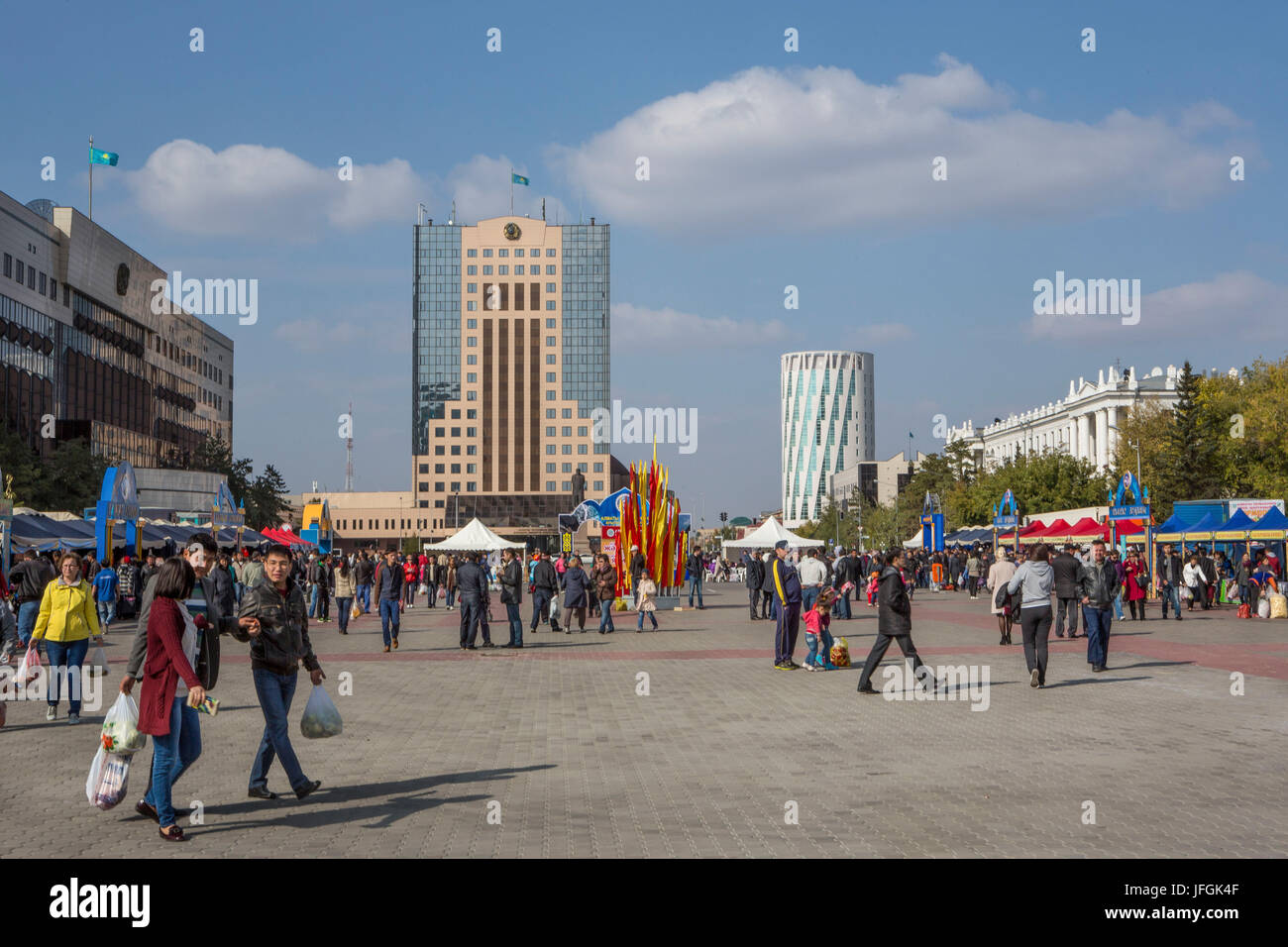 Kazakhstan, Astana City, Old City, Down Town, Gobernment Agency Building, - Stock Image