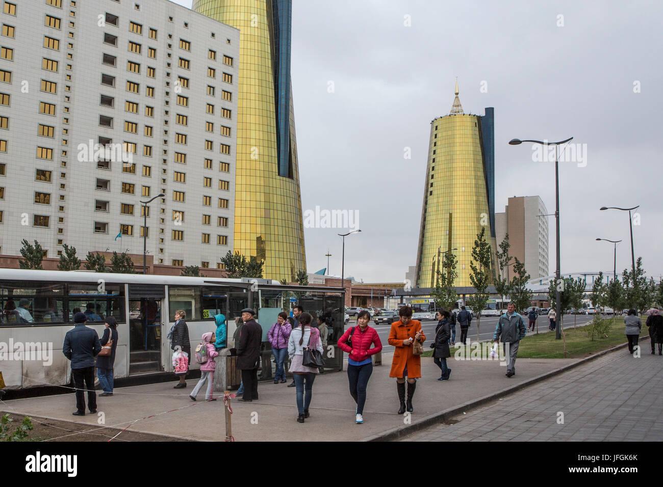 Kazakhstan, Astana City, New Administrative City, Nurzhol Avenue Stock Photo
