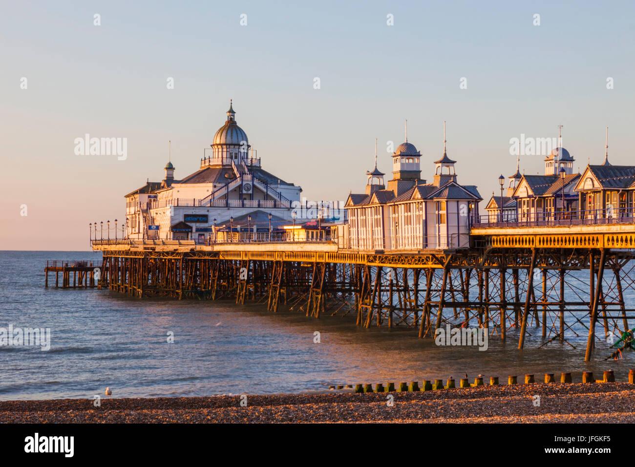 England, East Sussex, Eastbourne, Eastbourne Pier - Stock Image