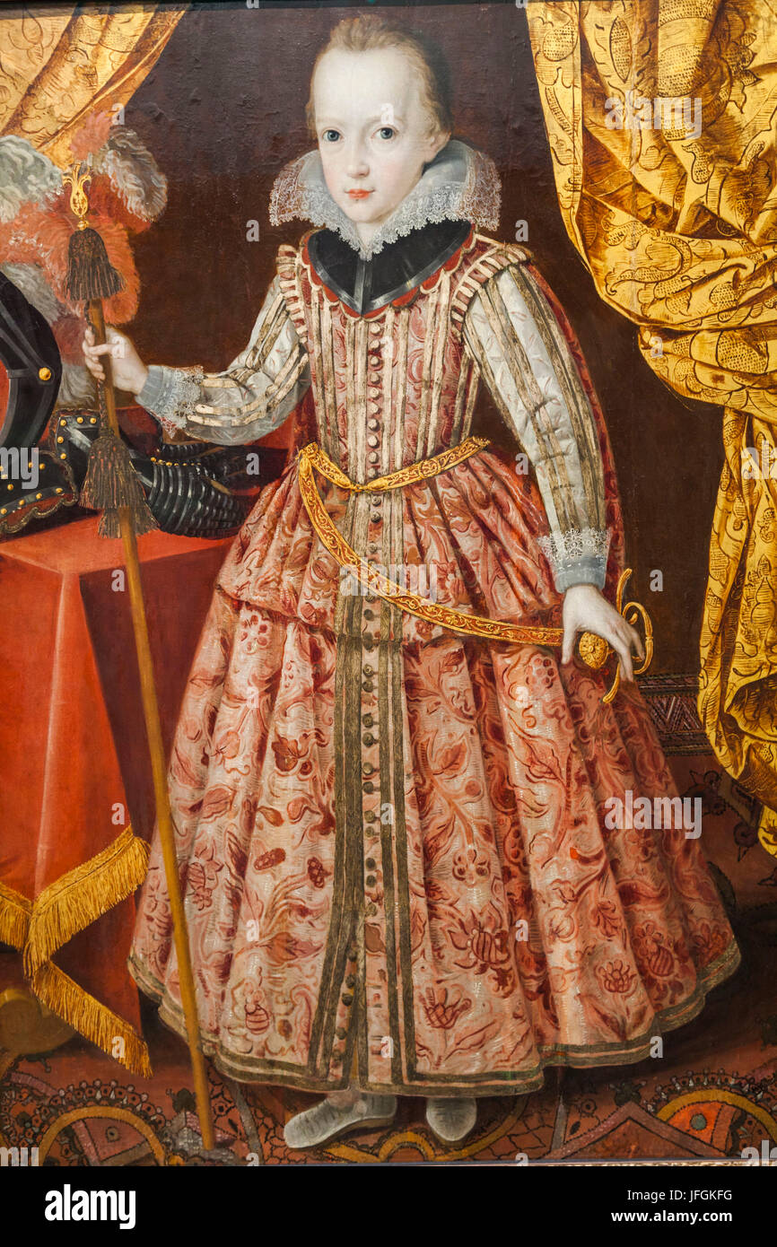 England, Somerset, Bristol, Bristol Museum and Art Gallery, Painting of Charles I as a Child when Duke of York c - Stock Image