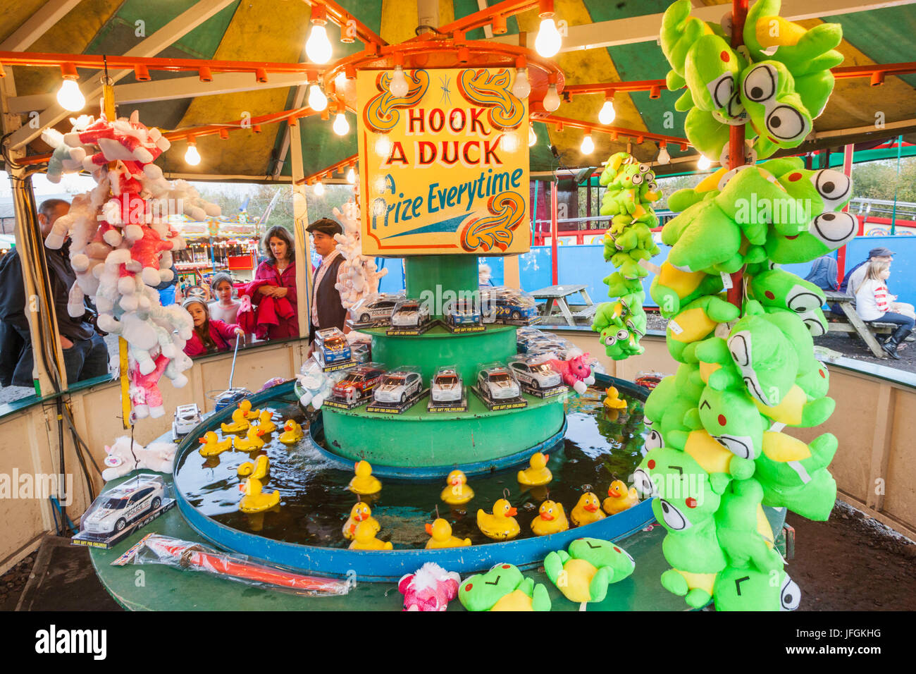 England, Birmingham, Dudley, The Black Country Living Museum, Traditional Fairground Game - Stock Image