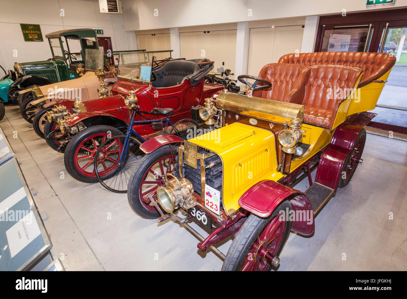 England, Birmingham, Dudley, The Black Country Living Museum, Vintage Car Collection - Stock Image