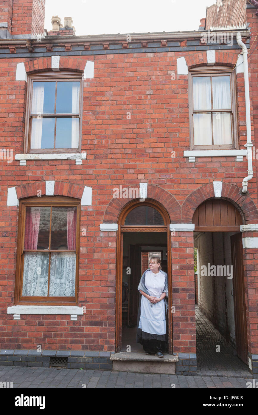 England, Birmingham, Dudley, The Black Country Living Museum, Street Scene - Stock Image