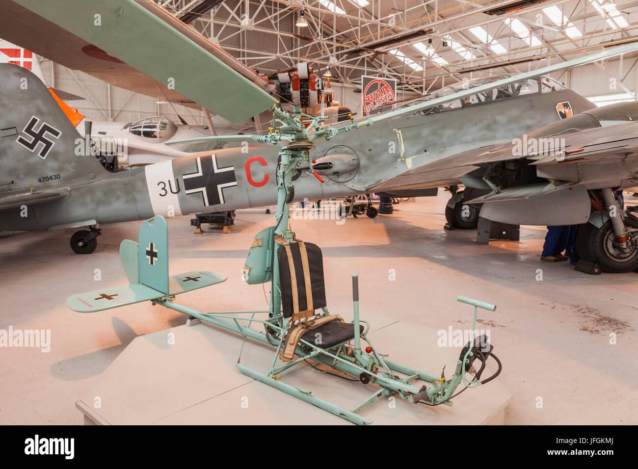 England, Shropshire, Royal Airforce Cosford Museum, FA-330 German Bachstelza Light Reconnaissance Plane - Stock Image