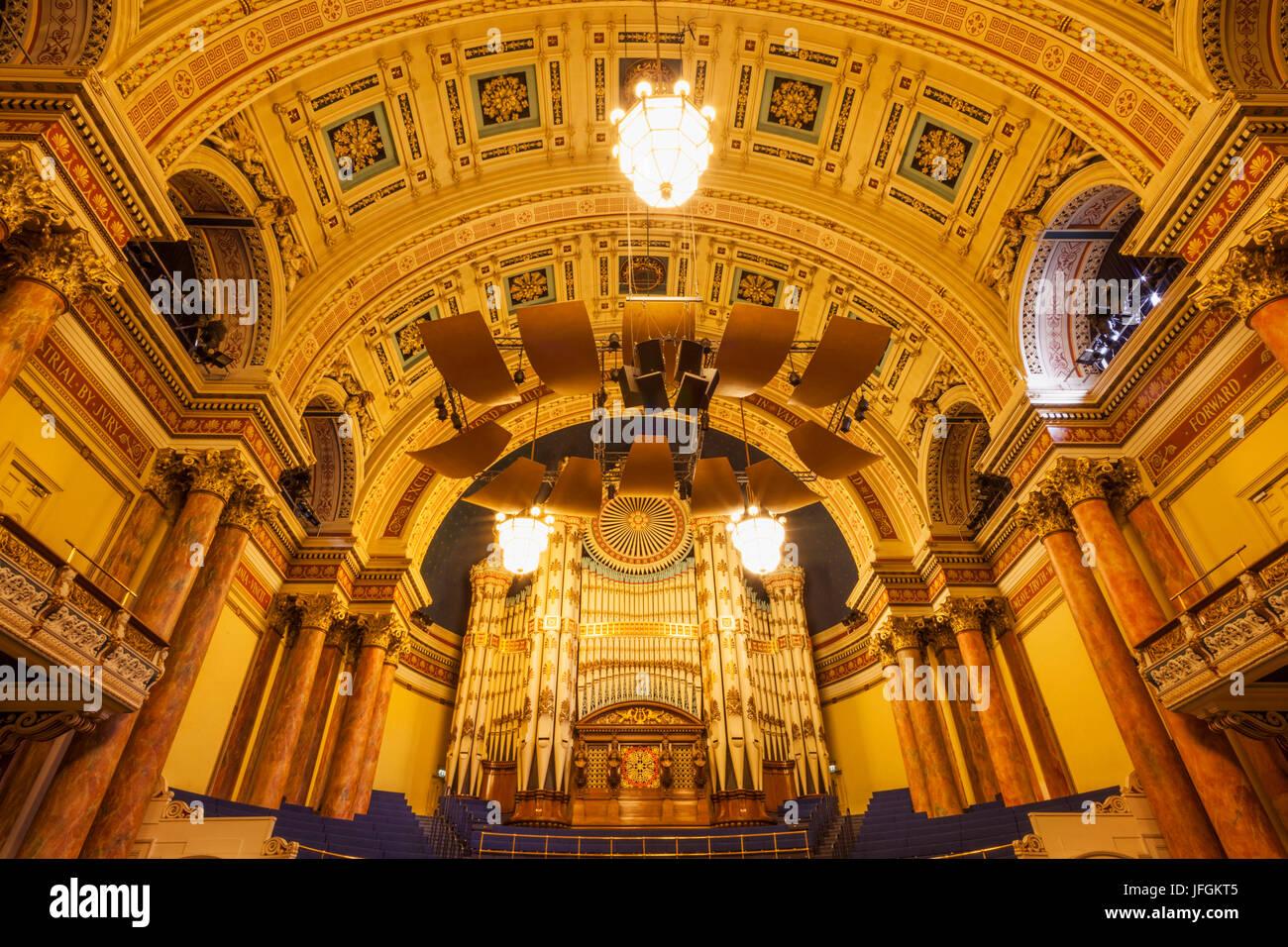 England, Yorkshire, Leeds, Leeds Town Hall, The Albert Room - Stock Image