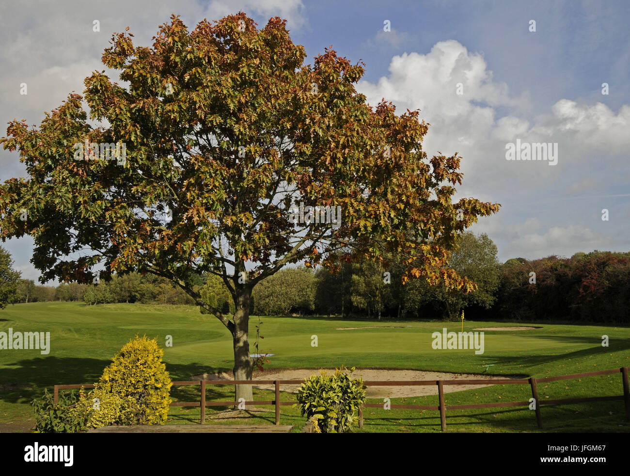 View from 7th Tee to the 6th Green at Broke Hill Golf Club - Stock Image