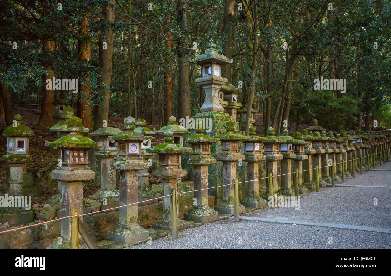 Japan, Kansai, Nara City, Kasuga Shrine, UNESCO World Heritage, - Stock Image